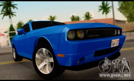 Dodge Challenger SXT Plus 2013 para GTA San Andreas vista posterior izquierda