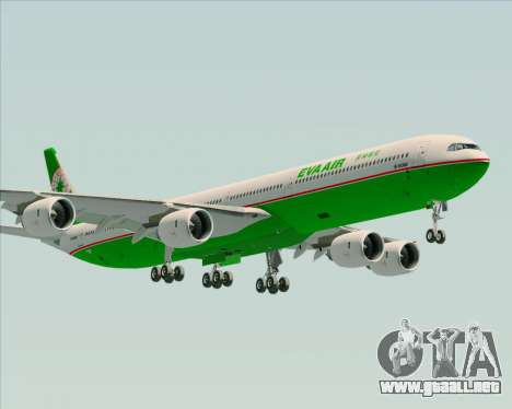 Airbus A340-600 EVA Air para GTA San Andreas left