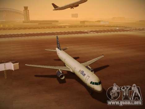 Airbus A321-232 jetBlue Whole Lotta Blue para vista inferior GTA San Andreas