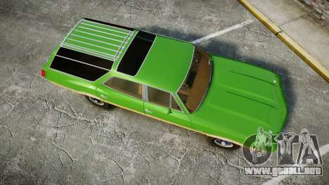 Oldsmobile Vista Cruiser 1972 Rims2 Tree6 para GTA 4 visión correcta