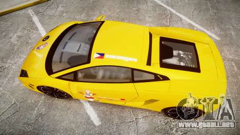 Lamborghini Gallardo 2013 HDD Honoka Kousaka para GTA 4 visión correcta