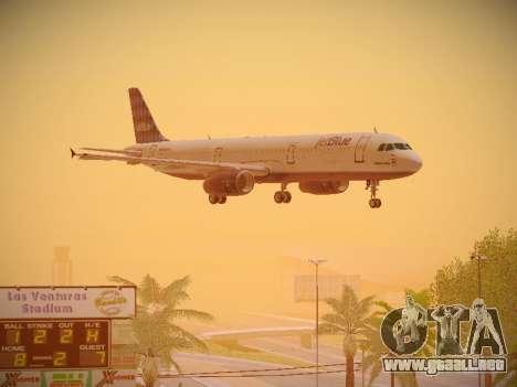 Airbus A321-232 jetBlue Airways para vista lateral GTA San Andreas