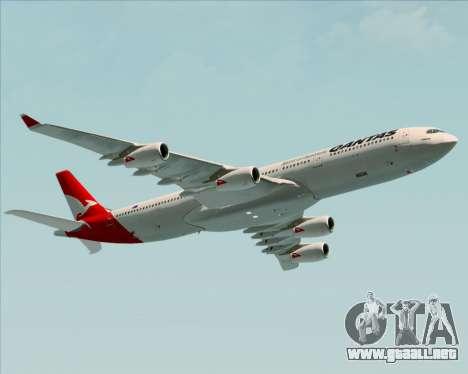 Airbus A340-300 Qantas para la visión correcta GTA San Andreas