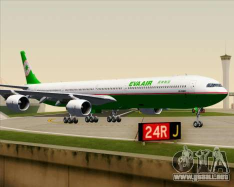Airbus A340-600 EVA Air para la vista superior GTA San Andreas