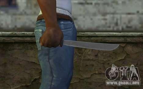 Machete (DayZ Standalone) v2 para GTA San Andreas tercera pantalla