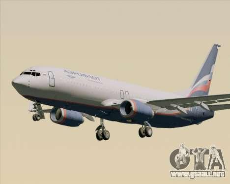 Boeing 737-8LJ Aeroflot - Russian Airlines para vista lateral GTA San Andreas