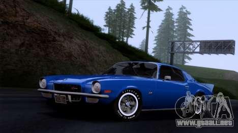 Chevrolet Camaro Z28 1970 (HQLM) para GTA San Andreas