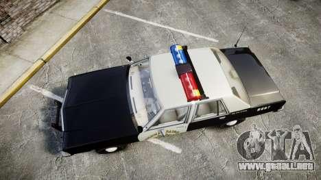 Ford LTD Crown Victoria 1987 Police CHP1 [ELS] para GTA 4 visión correcta