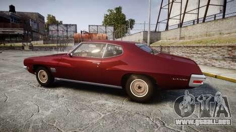 Pontiac Le Mans 1971 Rims1 para GTA 4 left