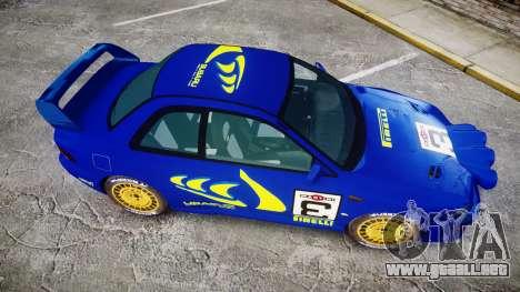 Subaru Impreza WRC 1998 Rally v2.0 Yellow para GTA 4 visión correcta