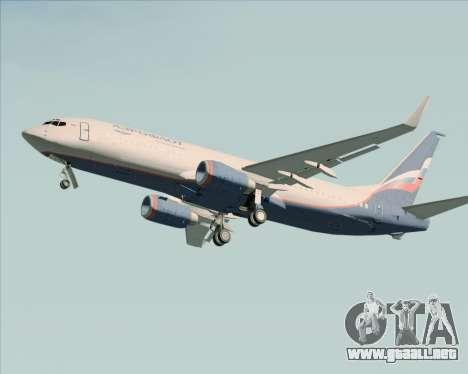 Boeing 737-8LJ Aeroflot - Russian Airlines para la vista superior GTA San Andreas