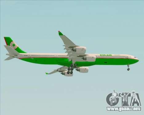 Airbus A340-600 EVA Air para la visión correcta GTA San Andreas