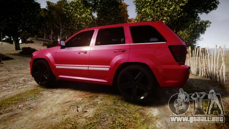 Jeep Grand Cherokee SRT8 license plates para GTA 4 left