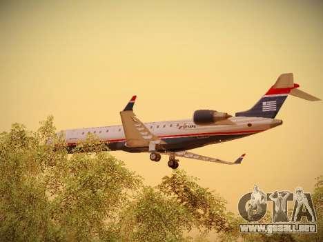 Bombardier CRJ-700 US Airways Express para vista inferior GTA San Andreas