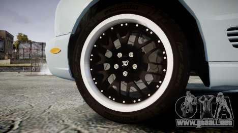 Bentley Arnage T 2005 Rims1 Chrome para GTA 4 vista hacia atrás