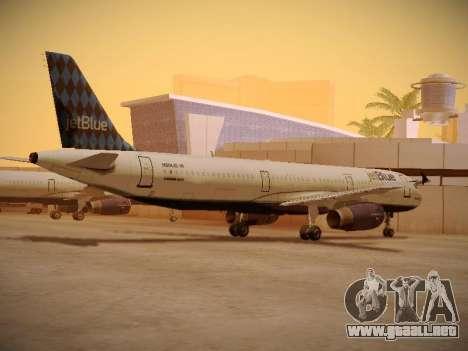 Airbus A321-232 jetBlue Airways para GTA San Andreas vista hacia atrás