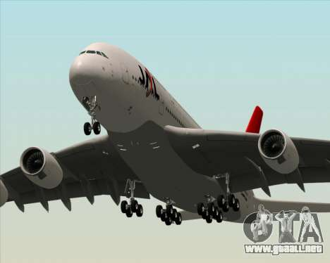 Airbus A380-800 Japan Airlines (JAL) para las ruedas de GTA San Andreas