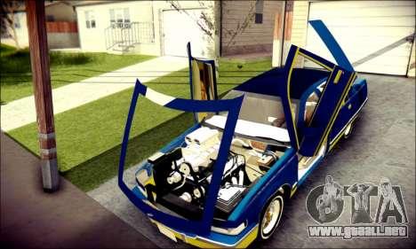 Cadillac Fleetwood 1993 Lowrider para visión interna GTA San Andreas