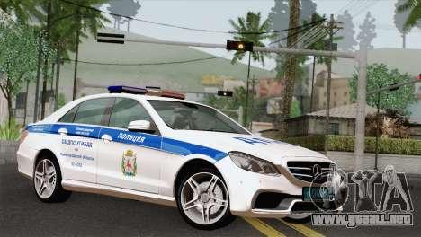 Mercedes-Benz E63 AMG 2014 ДПС para GTA San Andreas