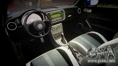 Volkswagen Beetle A5 Fusca para GTA 4 vista interior