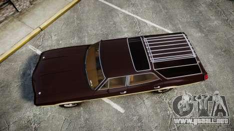 Oldsmobile Vista Cruiser 1972 Rims2 Tree5 para GTA 4 visión correcta