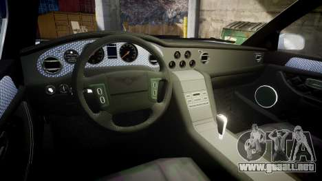 Bentley Arnage T 2005 Rims1 Black para GTA 4 vista interior