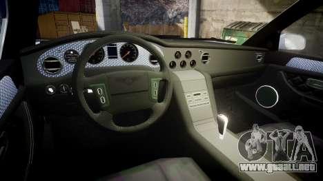 Bentley Arnage T 2005 Rims1 Black para GTA 4 vista interior
