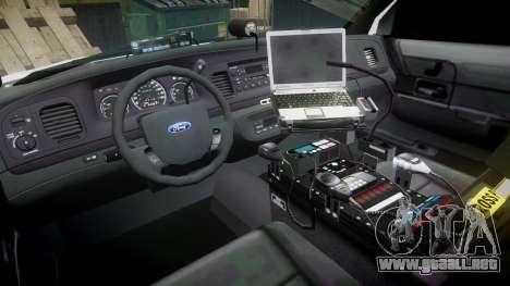 Ford Crown Victoria LC Sheriff [ELS] para GTA 4 vista hacia atrás