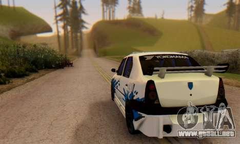 Dacia Logan Tuning para GTA San Andreas vista posterior izquierda