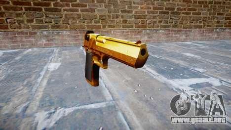 Pistola IMI Desert Eagle Mc XIX Oro para GTA 4