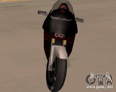 NRG-500 Winged Edition V.1 para visión interna GTA San Andreas
