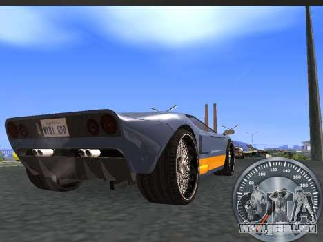 Metal clásico velocímetro para GTA San Andreas segunda pantalla