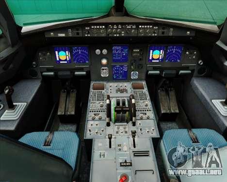 Airbus A321-200 Swiss International Air Lines para GTA San Andreas interior