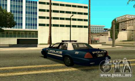 FCPD Ford Crown Victoria para GTA San Andreas left