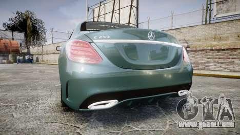 Mercedes-Benz C250 para GTA 4 Vista posterior izquierda
