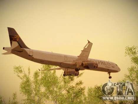 Airbus A321-232 Cyprus Airways para visión interna GTA San Andreas