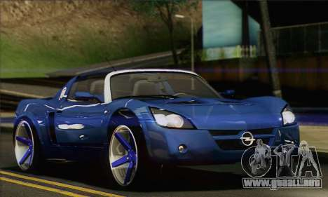 Opel Speedster para GTA San Andreas left
