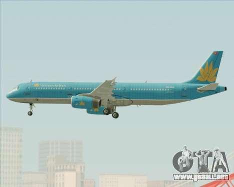 Airbus A321-200 Vietnam Airlines para el motor de GTA San Andreas