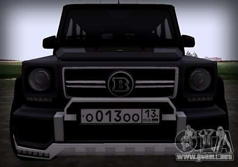 Brabus 800 para visión interna GTA San Andreas