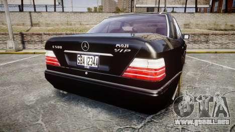 Mercedes-Benz E500 1998 Tuned Wheel Gold para GTA 4 Vista posterior izquierda