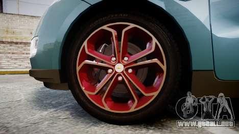 Chevrolet Volt 2011 v1.01 rims2 para GTA 4 vista hacia atrás