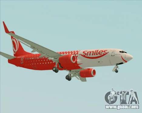 Boeing 737-800 de Gol Transportes Aéreos para GTA San Andreas vista hacia atrás