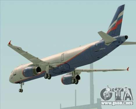 Airbus A321-200 Aeroflot - Russian Airlines para el motor de GTA San Andreas