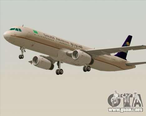 Airbus A321-200 Saudi Arabian Airlines para GTA San Andreas left
