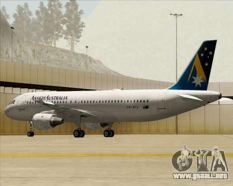 Airbus A320-200 Ansett Australia para las ruedas de GTA San Andreas