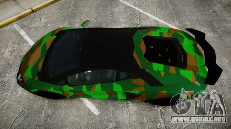 Lamborghini Aventador LP760-4 Camo Edition para GTA 4 visión correcta