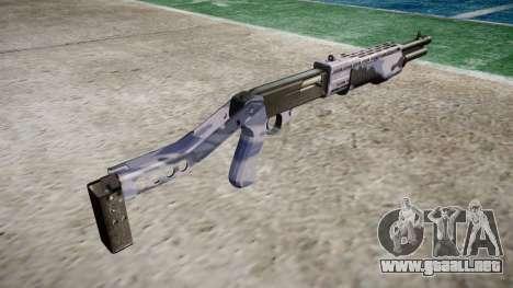 Ружье Franchi SPAS-12 Azul Tigre para GTA 4 segundos de pantalla