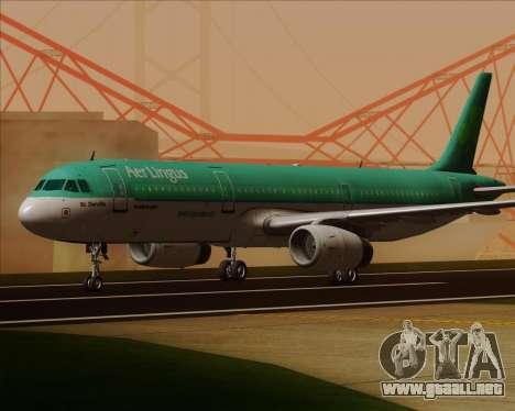 Airbus A321-200 Aer Lingus para GTA San Andreas left