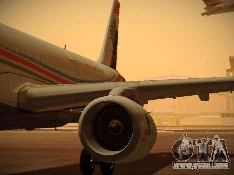 Airbus A321-232 Middle East Airlines para las ruedas de GTA San Andreas