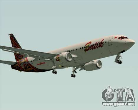 Boeing 737-800 Batik Air para GTA San Andreas left